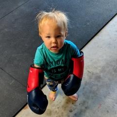 """Wants to box like Dad"""